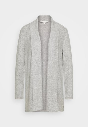 Cardigan - light silver/grey melange