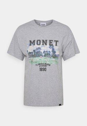 MONET ARTS GRAPHIC - Print T-shirt - grey