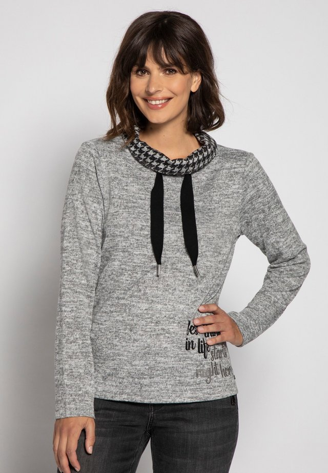 Sweatshirt - asphaltgrau-melange