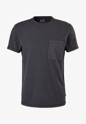 Print T-shirt - faded black