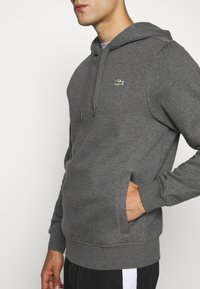 Lacoste Sport - CLASSIC HOODIE - Bluza z kapturem - pitch chine/graphite sombre - 5