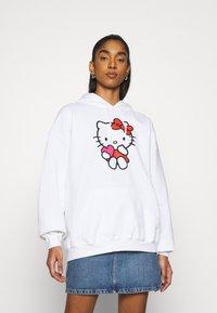NEW girl ORDER - LOGO HOODY - Sweatshirt - white - 0