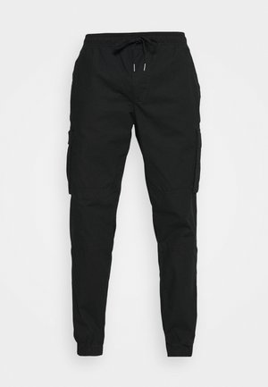 JOGGER - Cargo trousers - true black