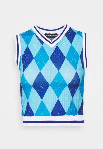 ARGYL TANK - Top - blue