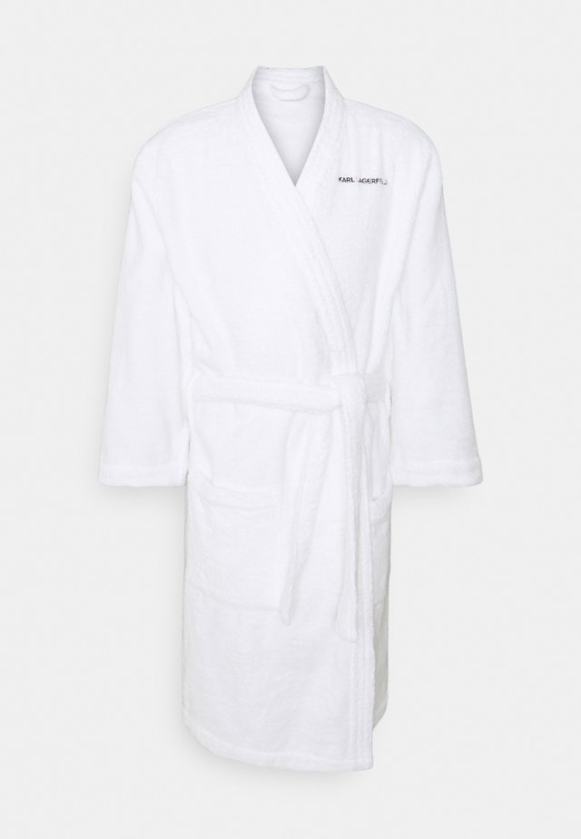 LOGO BATHROBE UNISEX - Dressing gown - white