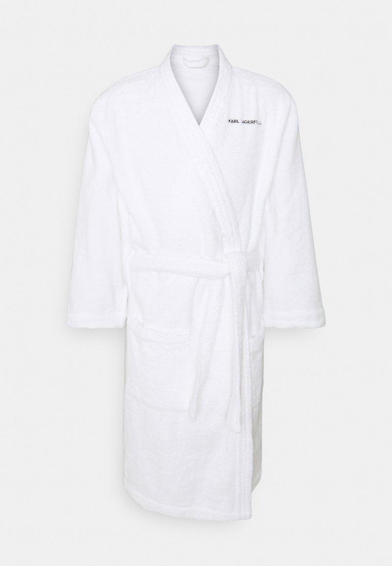 KARL LAGERFELD - LOGO BATHROBE UNISEX - Dressing gown - white