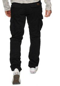 INDICODE JEANS - WILLIAM - Cargo trousers - new black - 2