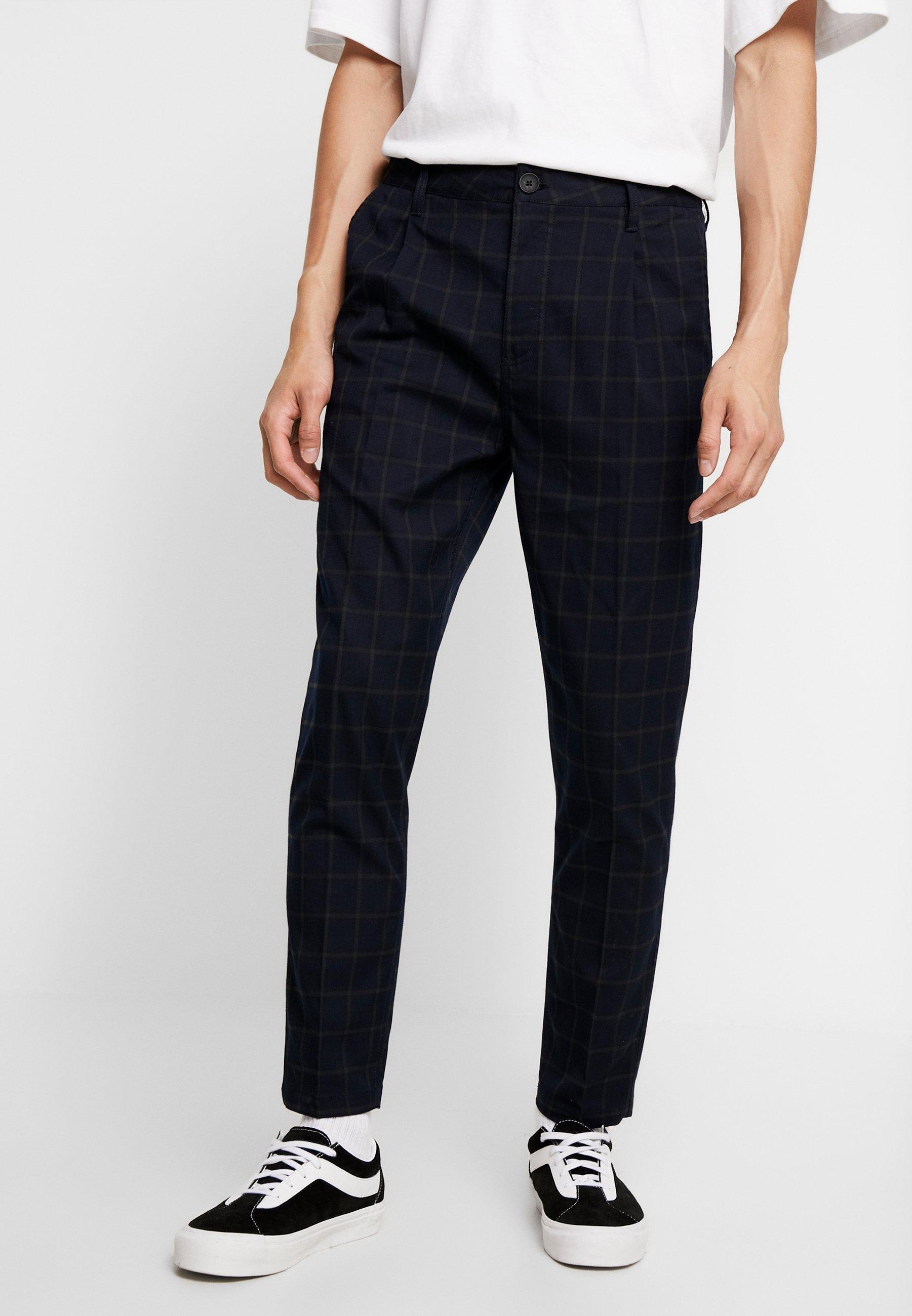 Men OXFORD - Trousers - navy green