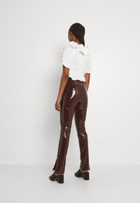 Nly by Nelly - SLIM  PANT - Trousers - brown - 2