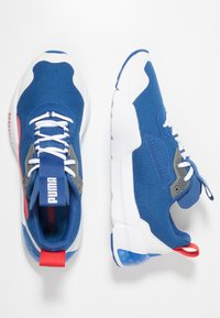 Puma - CELL PHANTOM - Zapatillas de running neutras - galaxy blue/white/high risk red - 1