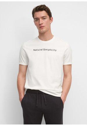 IN HEAVY QUALITÄT - Print T-shirt - egg white