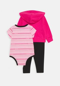 Nike Sportswear - STRIPE BODYSUIT SET - Body - black/light pínk - 1