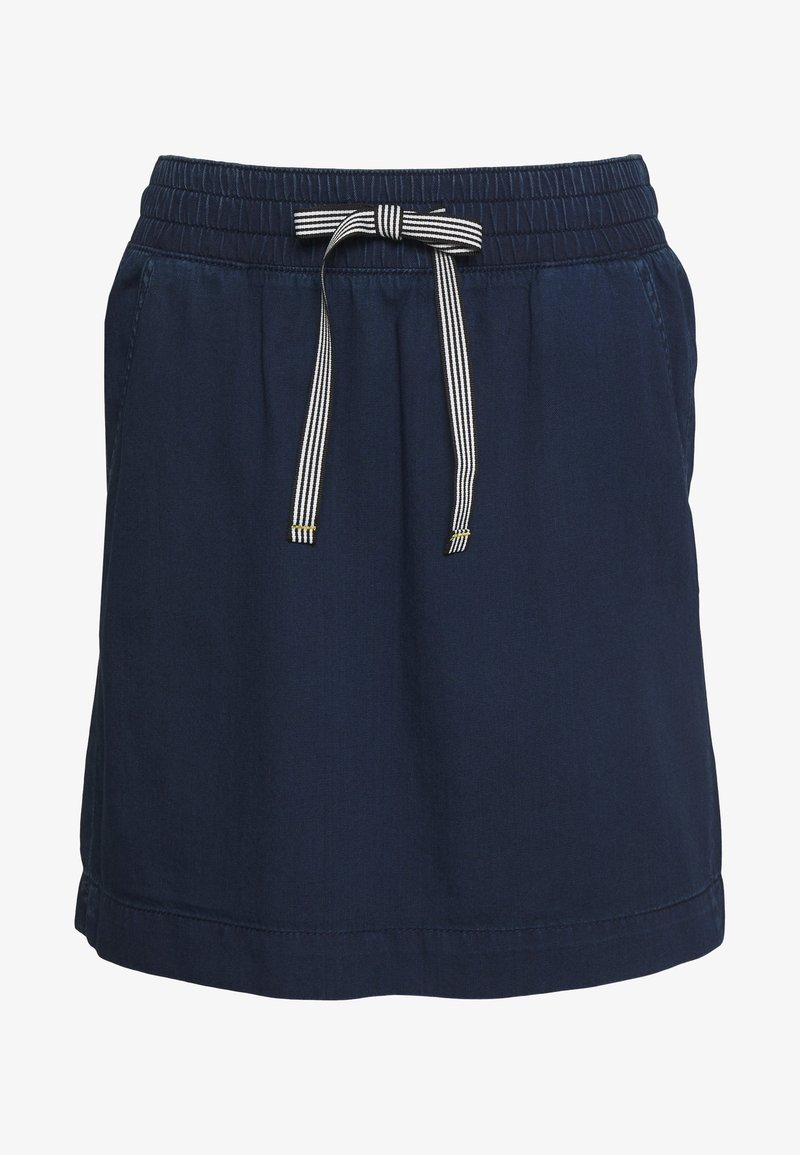 Q/S designed by - KURZ - A-line skirt - blue denim