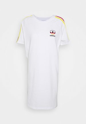 STRIPES SPORTS INSPIRED REGULAR DRESS - Trikoomekko - white/multicolor