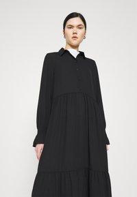 Monki - PARLY DRESS - Skjortekjole - black dark unique - 3