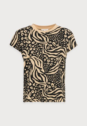 WITH CONTRAST NECK - T-Shirt print - multi-coloured