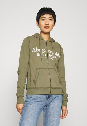LONG LIFE FULL ZIP - Zip-up hoodie - green