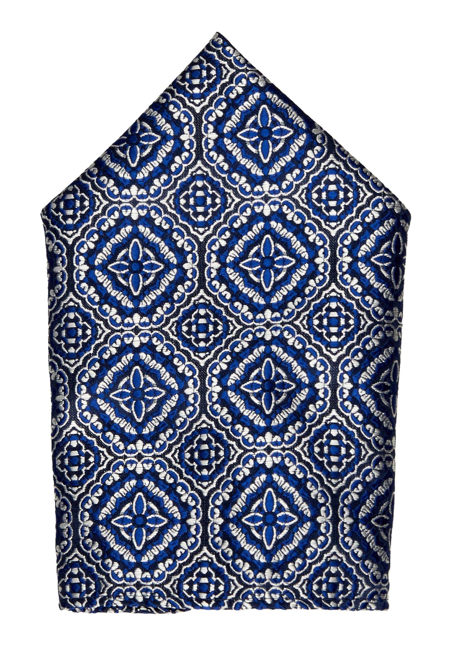 Burton Menswear London Tile Geo Set - Einstecktuch Blue