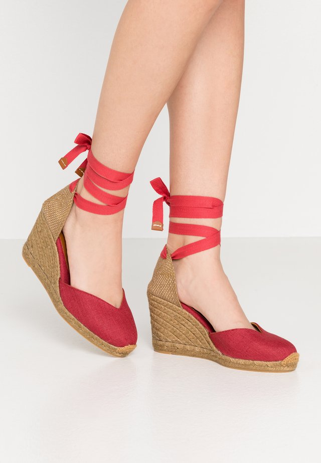 CHIARA - High heeled sandals - rojo