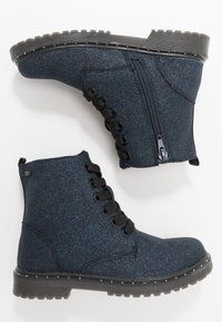 TOM TAILOR - Lace-up ankle boots - navy glitter - 0