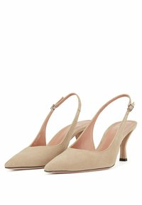 BOSS - Slingback ballet pumps - beige - 2