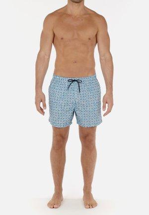 Swimming shorts - turquoise print