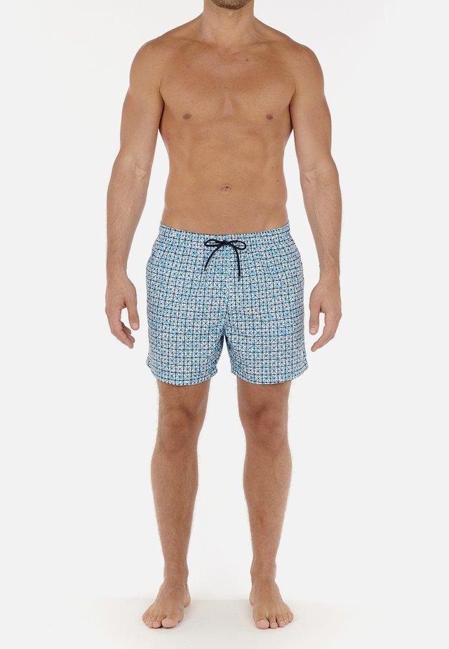 Zwemshorts - turquoise print