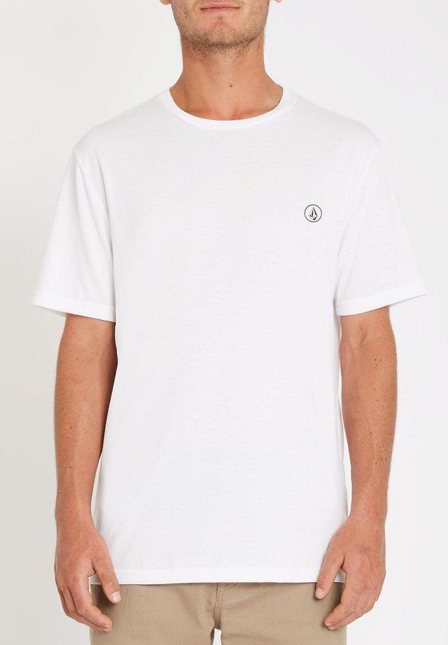 CIRCLE BLANKS HTH SS - T-shirt basique - white_flash