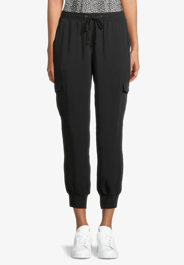 MIT BINDEGÜRTEL - Pantalon de survêtement - schwarz
