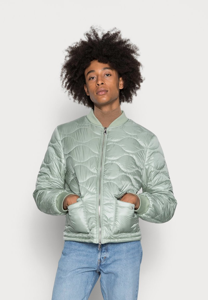 Another Influence - ONION QUILT JACKET - Blouson Bomber - mint