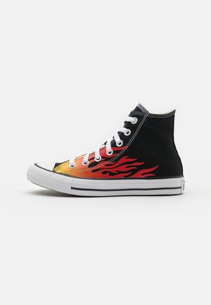 CHUCK TAYLOR ALL STAR UNISEX - High-top trainers - black/enamel red/fresh yellow
