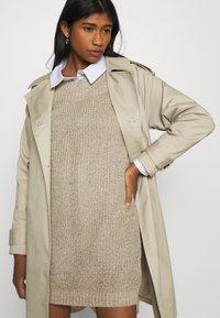 JDY - JDYWHITNEY MEGAN BOAT DRESS - Jumper dress - beige - 3