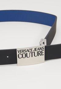 Versace Jeans Couture - Belt - black/silver/dark blue - 4