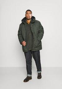 Jack & Jones - JJSKY JACKET - Winter coat - dark green melange - 1