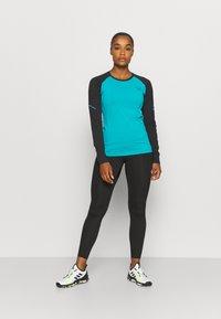 Dynafit - ALPINE PRO TEE - Sports shirt - black out ocean - 1