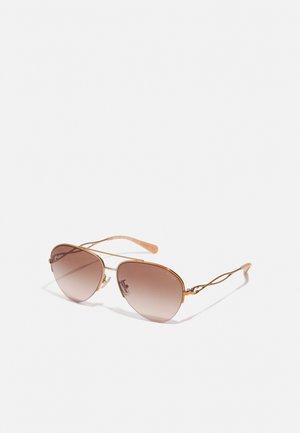 Sunglasses - shiny rose gold-coloured