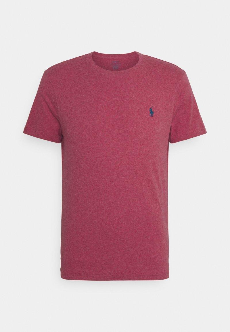 Polo Ralph Lauren - CUSTOM SLIM FIT CREWNECK - T-shirt basique - red/dark blue