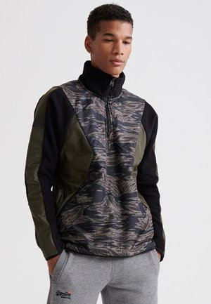 SUPERDRY DESERT ALCHEMY BLOCK HALF ZIP HOODIE - Sweat polaire - rocky mountian
