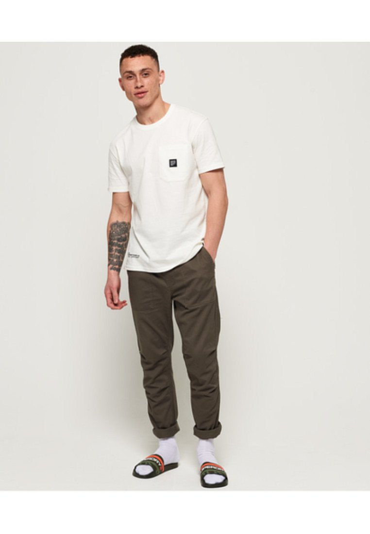 Superdry CORE UTILITY-HOSE - Pantalon classique - khaki