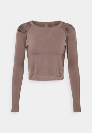 ONPJABRIL SHORT - Long sleeved top - deep taupe