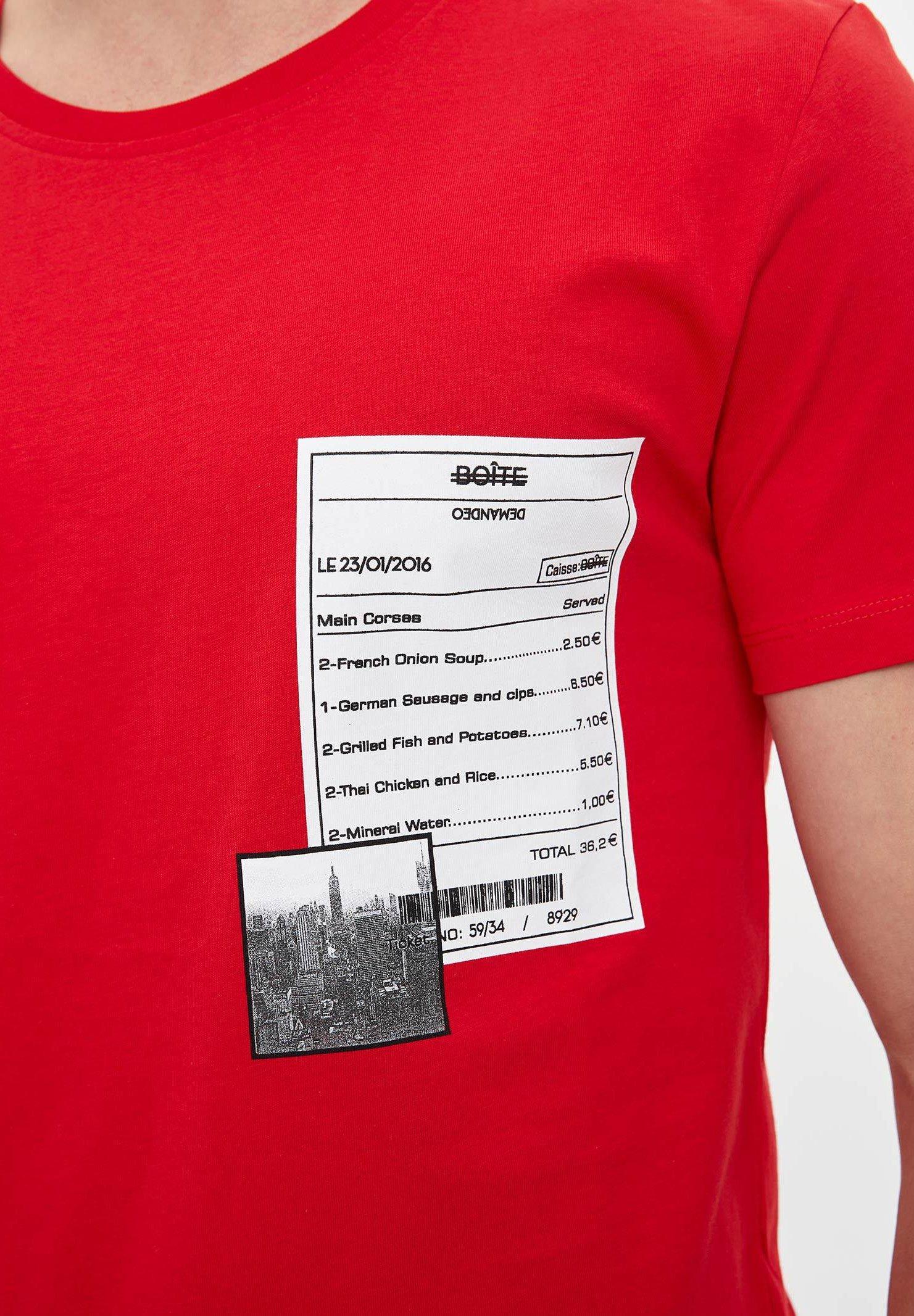 DeFacto Print T-shirt - red ffYqG