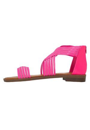 CHRISTINA - Sandały - neon pink