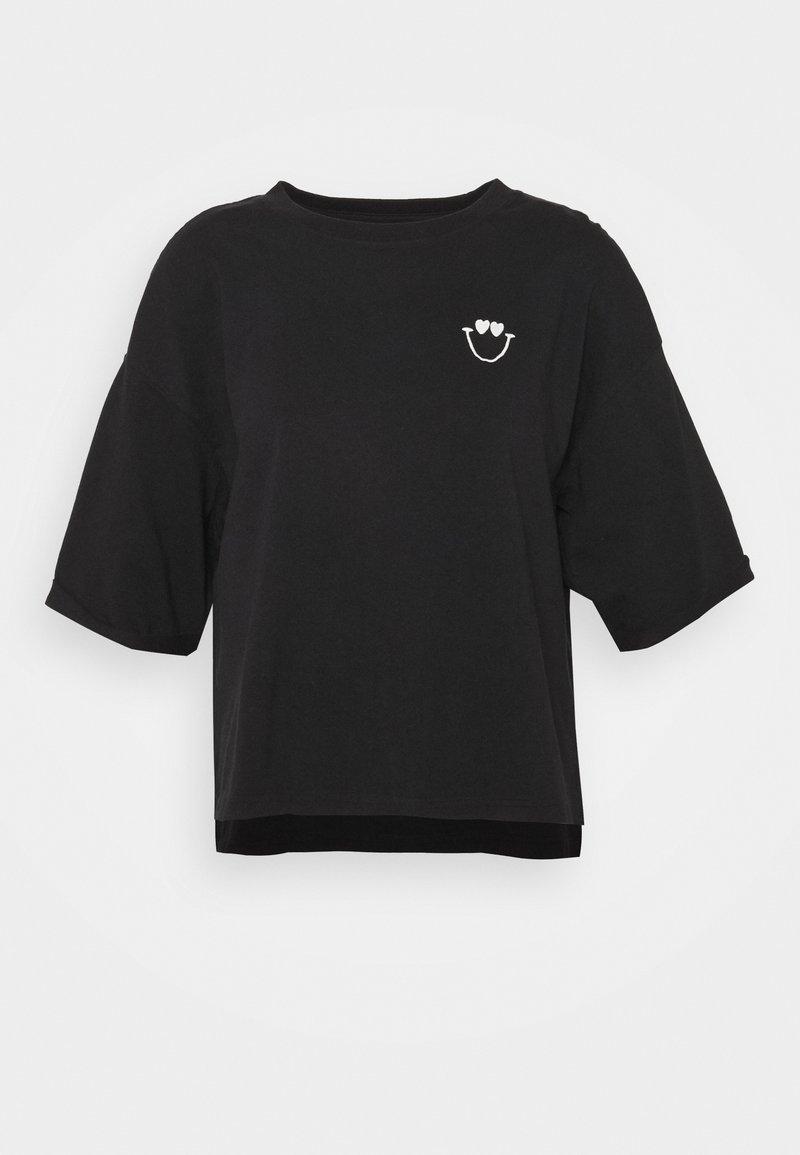 Marc O'Polo - SHORT SLEEVE ROUND NECK - Print T-shirt - dark blue