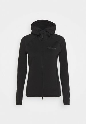 CHILL ZIP HOOD - Fleecejakker - black