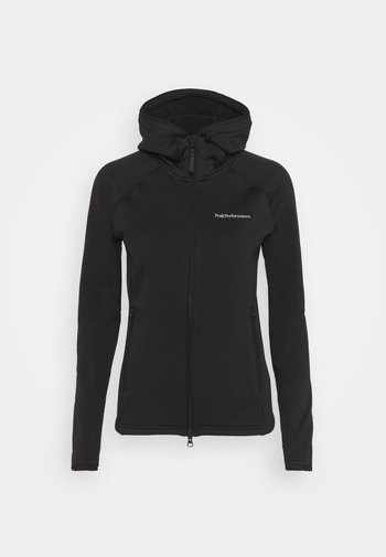 CHILL ZIP HOOD - Fleecová bunda - black