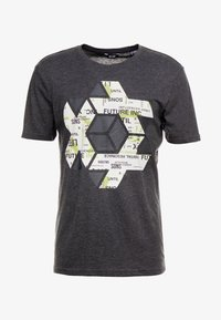 Jack & Jones - ONSABRAHAM FITTED TEE - Print T-shirt - black - 3
