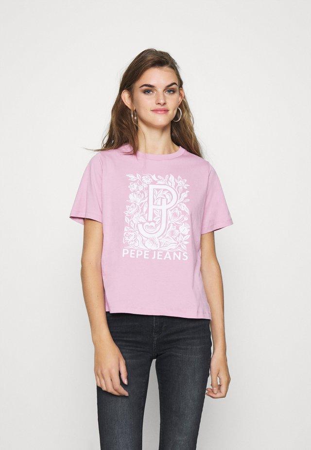 ALISSA - T-shirt con stampa - malva