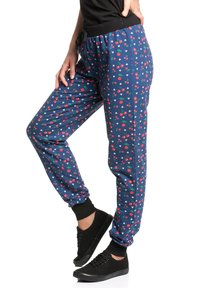 Pussy Deluxe - CAT PAWS & CHERRIES - Tracksuit bottoms - blau allover - 2