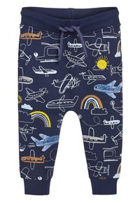 Next - NAVY AEROPLANE ALL OVER PRINT JOGGERS (3MTHS-7YRS) - Tracksuit bottoms - blue - 0