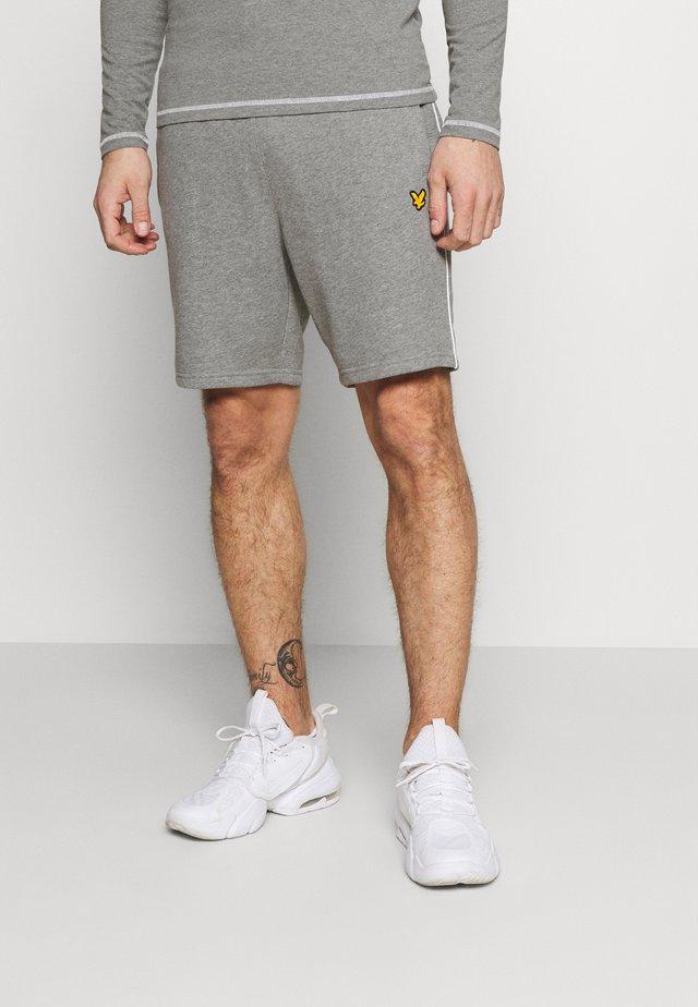 SHORT WITH CONTRAST PIPING - Pantaloncini sportivi - mid grey marl